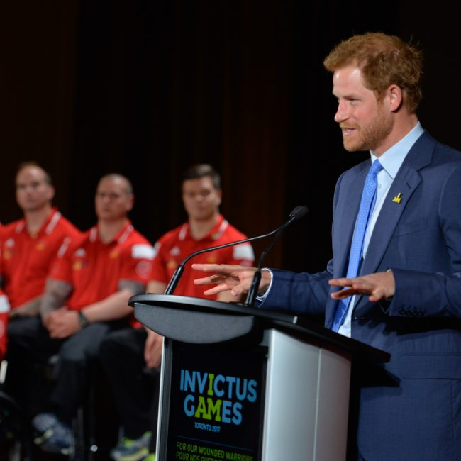 Prince Harry provides opening remarks at the Invictus Games